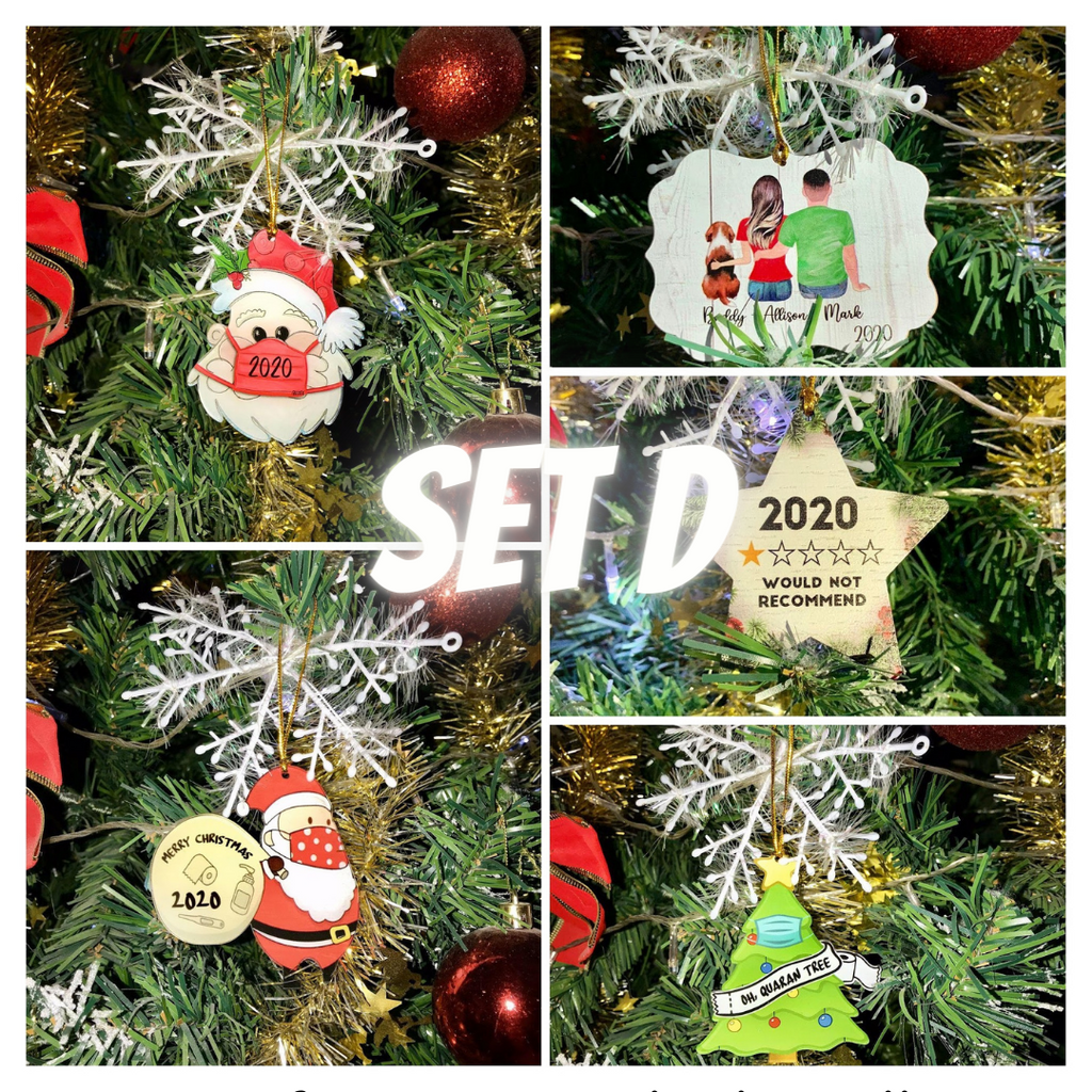 DIY Christmas Ornaments 2020 - Set D