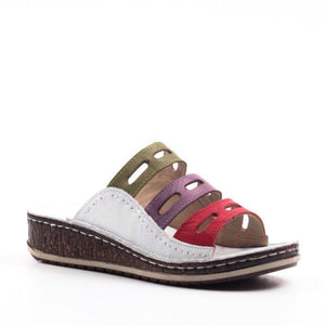 GirlyPik™  Women Comfy Three-color Stitching Sandals