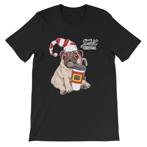 Mops Dog Kaffee-Shirt No.2 🎄 Weihnachts-Edition ★★★ Premium T-Shirt