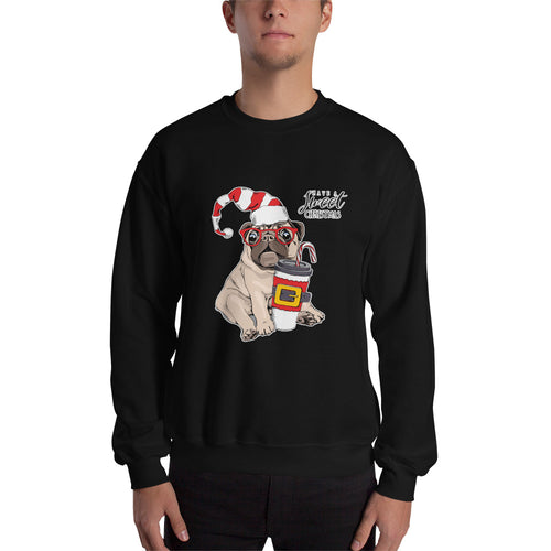 Mops Dog Kaffee-Sweatshirt No.2 🎄 Weihnachts-Edition ★★★ Premium Sweatshirt
