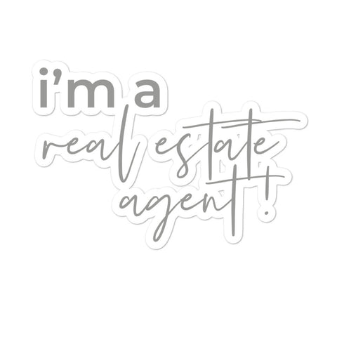 I'm a RE Agent! Sticker