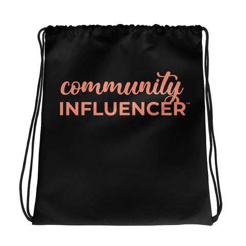 Community Influencer™ Drawstring bag