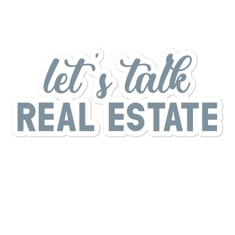 Let's Talk Real Estate Sticker