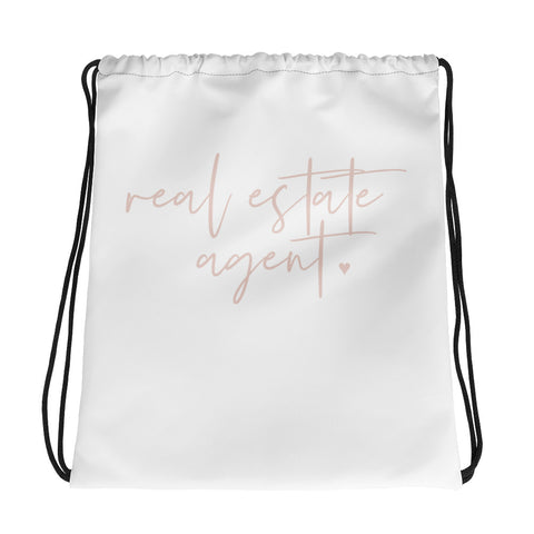 Real Estate Agent Drawstring Bag