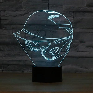 Baseball Cap 3D Illusion Lamp