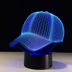 Hat Baseball Cap 3D Illusion Lamp
