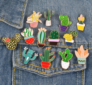 Cactus Succulent Pin Collection - Crazy Cacti Lady 1pc