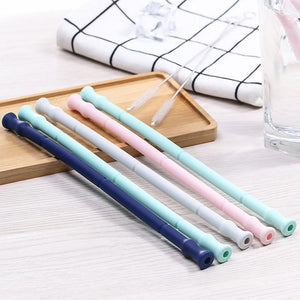 group of silicone straws
