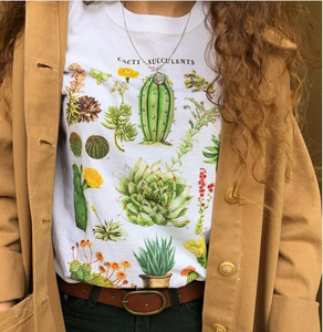 Cacti Gang Cactus Succulent Education Graphic Tee