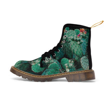 "Load image into Gallery viewer, ""Nopal de Grunge"" - Cactus-print Moto Boots (PRICKLY BTCH LA COLLABORATION)"