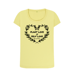 """Plant Love is Self Love"" Organic Cotton Ladies Graphic Tee"