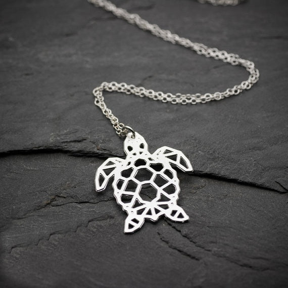 Geometric Sea Turtle Necklace