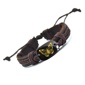Vegan Leather Butterfly Bracelet
