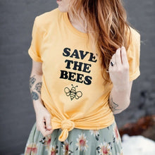 "Load image into Gallery viewer, ""Save the Bees"" Lovely Graphic Tee"