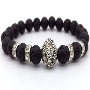 King of the Jungle Onyx Black Stone Bracelet