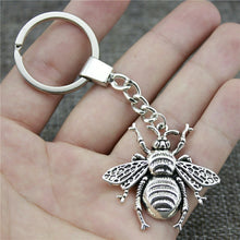 Load image into Gallery viewer, Honey Bee Bronze Metal Keychain