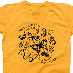 """Protect Butterflies & Flowers"" Fields Graphic Tee"
