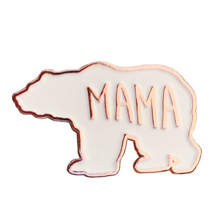 Mama Bear Mother Earth Love Enamel Pin