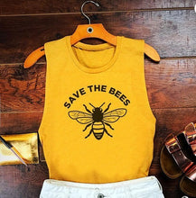 "Load image into Gallery viewer, ""Save The Bees"" Statement Tanktop - Summer '19 Exclusive"