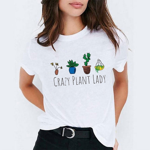 Crazy Plant Lady Subtle Statement Graphic Tee