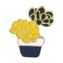 Load image into Gallery viewer, Cactus Succulent Pin Collection - Crazy Cacti Lady 1pc