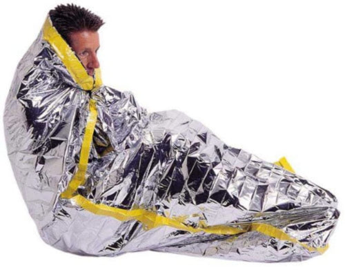 "2 Pack Emergency Mylar Solar Sleeping Bag 84"" x 36"""