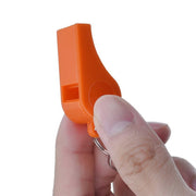 200 Pack Orange Plastic Safety Whistle With Lanyard for Boats   Raft   Emergency