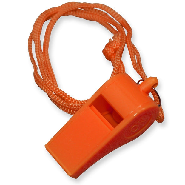 New Orange Plastic Safety Whistle With Lanyard for Boats  Raft  Marine Emergency