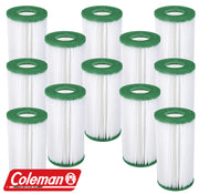 12 Pack Coleman Type III A/C Filter Cartridge for 1000 & 1500 GPH Filter Pumps