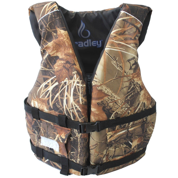 Bradley Adult Basic Fishing Life Vest - US Coast Guard Approved