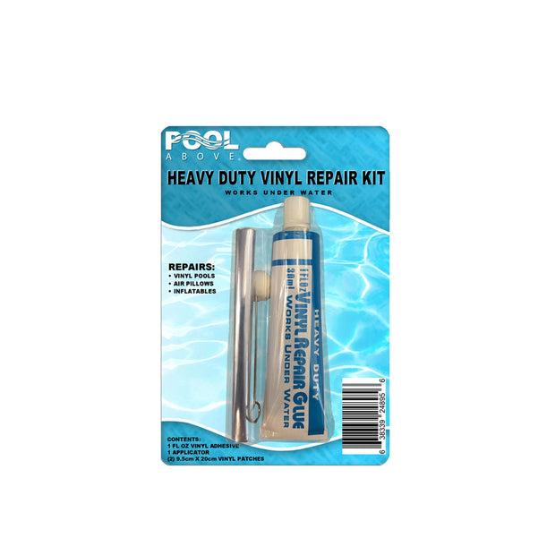 Repair Kit for Beach Wave Swim Center Pool | Vinyl glue | Blue and White Patches