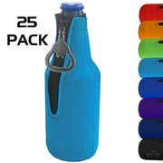 Zipper Beer Bottle Cooler Sleeve with Bottle Opener