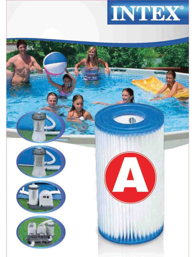 6 Pack Intex Type A Filter Cartridge for Above Ground Swimming Pool Pumps