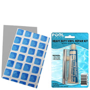 "Repair Kit for Ultra Frame Pool | Vinyl Glue | Gray Blue Multi 5.5"" x 8.5"" Patches"