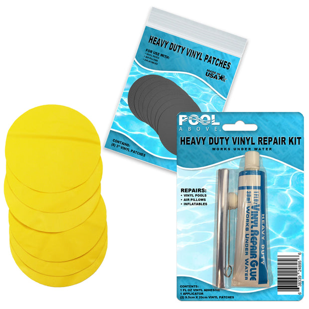 Repair Kit for Mega Duck Island | Vinyl glue | Yellow Patches