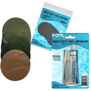 Repair Kit for Seahawk 2 Boat | Vinyl glue | Green and Tan Patches
