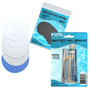 Repair Kit for Steel Pro Frame Pool | Vinyl glue | White and Blue Patches