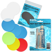 Repair Kit for Jump-O-Lene Transparent Ring Bounce | Vinyl glue | Red and Multi Patches