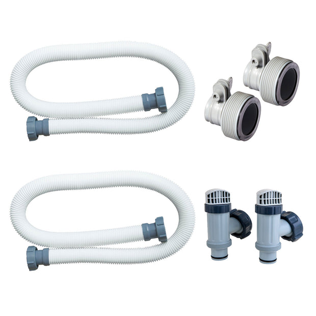 Intex Replacement Hose Adapter B w/ Plunger Valve & Replacement Hose (2 Pack)