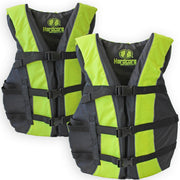 2 Pack Hardcore Adult Life Jacket PFD Type III Coast Guard Ski Vest Neon Yellow