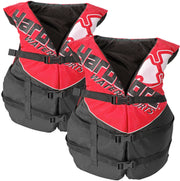 2 Pack Adult Life Jacket PFD Type III Coast Guard Ski Vest Red HC110R