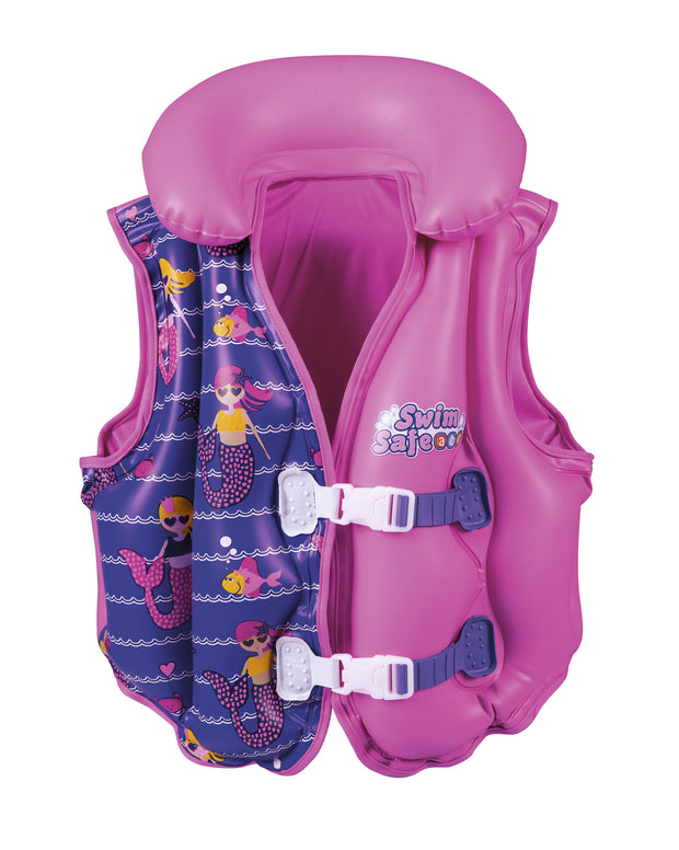 Swim Safe Boys & Girls Deluxe Inflatable Swim Jacket Life Vest