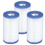 3 Pack Intex Type A Filter Cartridge for Above Ground Swimming Pool Pumps