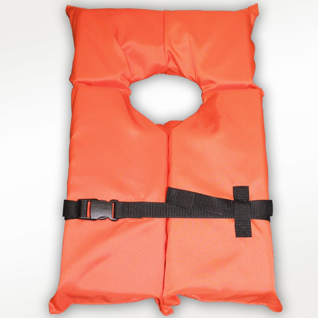 Hardcore Type II Orange Life Jacket Vest - Adult Universal Boating PFD