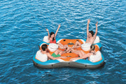 Bestway Rapid Rider Quad Floating Island with Beverage Coolers 4 Person 101x101