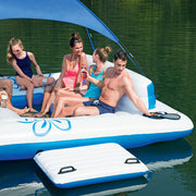 CoolerZ Tropical Breeze Inflatable Floating Islands with UV Sun Shade