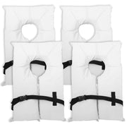 4 Pack Type II White Life Jacket Vest - Adult Universal Boating PFD