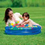 Inflatable 2-Ring Kiddie Wading Pool Ball Pit Pink or Blue w/ 50 Fun Game Balls