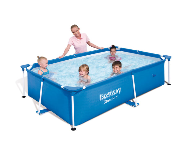 "Bestway Splash Frame Pool 94"" x 59"" x 23"" Above Ground Rectangular Swimming Pool"