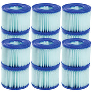 Bestway SaluSpa Antimicrobial Antibacterial Type VI Filter Cartridges 12 Pack